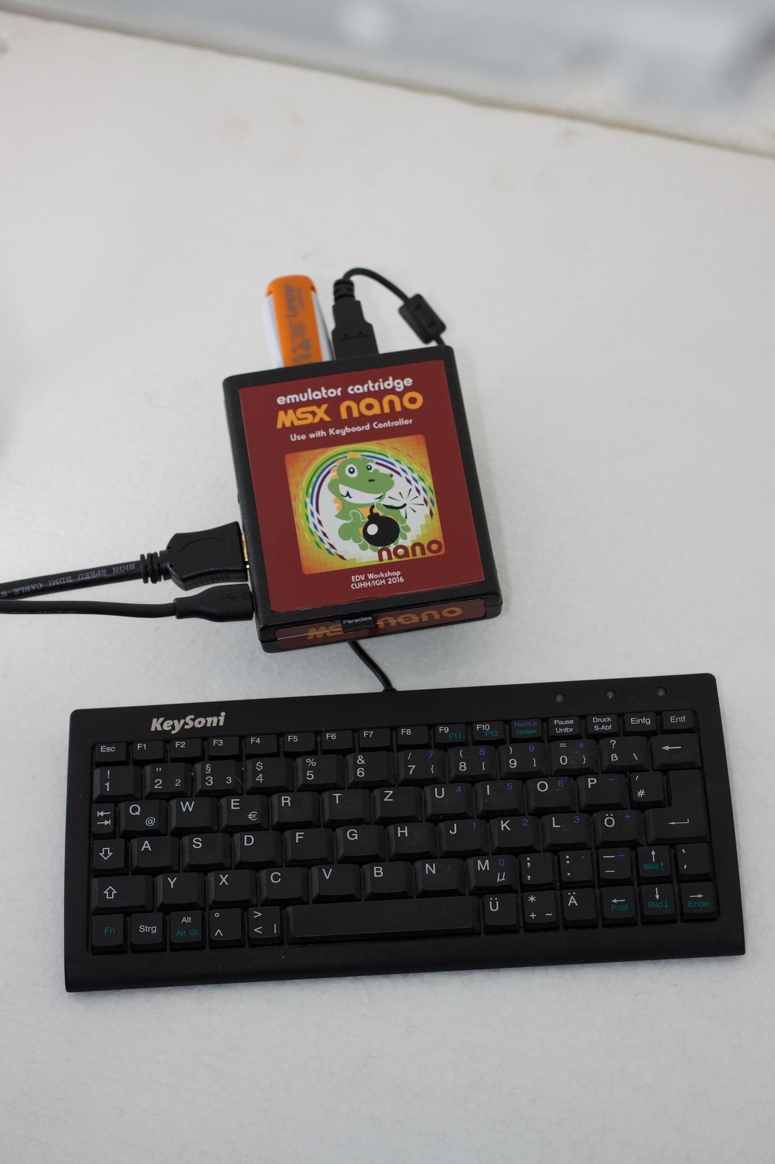 STmini FPGA board running MSX2+ core   MSX Resource Center