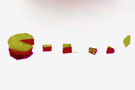 Pacman made out of food