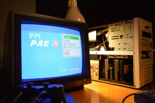 The English firmware by MSX-Translations is put into Tweety's FM-PAC.