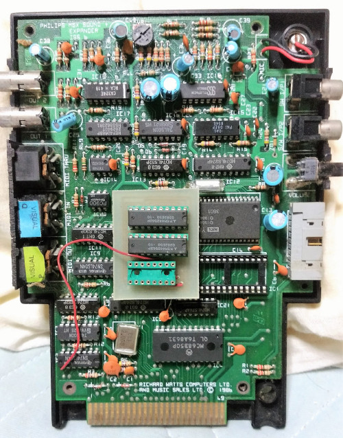 My Music Module PCB without Music Box rom and probably with upgrade