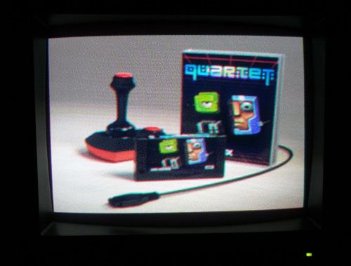 Quartet promo on a VS0080 CRT monitor in SCREEN 8